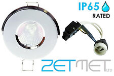 IP65 Outdoor Soffit / Bathroom Shower GU10 LED Ceiling Downlight Spotlight Light
