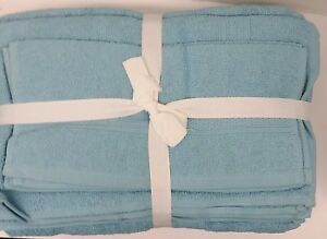 NEW BLUE~RESIDENCE HALL LINENS~6 PC TOWEL SET~2 EA BATH~HAND TOWELS~WASH CLOTHS