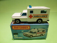 MATCHBOX NEW 41  -  AMBULANCE   - IN NEAR MINT CONDITION  -  IN ORGINAL  BOX
