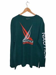 Nautica Long Sleeve T-Shirt Green Size XL