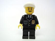 Lego Figur City Polizist cty210 weiße Kappe  Set  7498