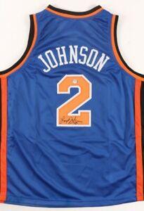 Larry Johnson Signed Jersey (PSA COA)New York Knicks