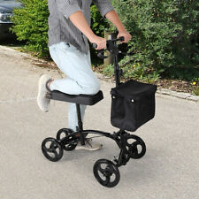 Mobility Foldable Heavy Duty Medical Knee Walker Scooter Roller w/Soft Pad Brake