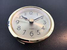 "Clock Battery Fit-Up Insert Arabic Gold Face  2 7/16"" Dia. fits a 2 1/4"" Hole"