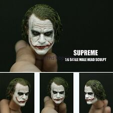 Hot Figure Toys Supreme 1/6 Joker Heath Ledger Head Sculpt Model For 12'' Body