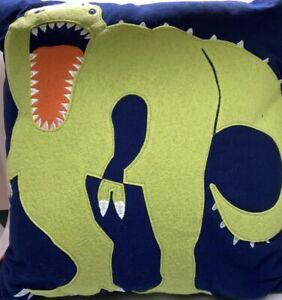 Pillowfort Dinosaur T-Rex Toss Throw Decorative Pillow 16 X 16 Inches Kids Child