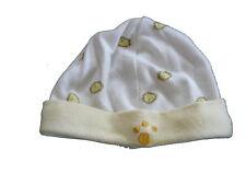 Babydream niedliche Mütze Gr. 50 / 56 weiß-gelb mit Löwen Motiven !!