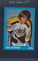 1973/74 Topps #008 Greg Sheppard Bruins NM/MT *1015