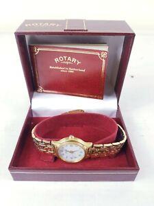 Ladies Rotary Watch 10310-BATT:UC364 -  Gold Plated - Vintage 1990