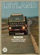 LEYLAND BOXER Trucks Commercial Vehicle Sales Brochure c1978 #1636