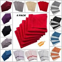 6 PACK Dish Towels Dish Cloths Cotton Terrycloth Kitchen Dining Dishcloths Set