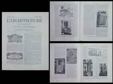 L'ARCHITECTURE N°19 1901 - SALONS 1901, ART NOUVEAU, SAUVAGE CHARPENTIER POLTI