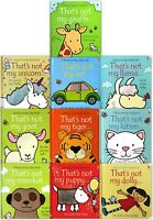 Thats Not My Toddlers Collection Usborne Touchy-Feely 10 Books Set Kitten, Puppy