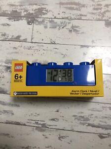 LEGO®  Stud Brick light up Alarm Clock Blue BRAND NEW