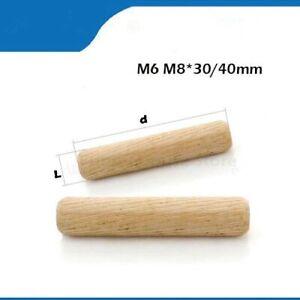 Grooved, Wooden, DOWEL PINS 20/50/100pcs , 6mm-8mm Diameter , 30-40mm Length