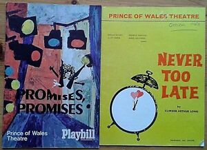 Individual Prince of Wales Theatre programmes 1960s, West End programme