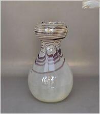 Eisch Glaskunst - keulenförmige Vase mit gekämmtem Dekor sign. Eisch