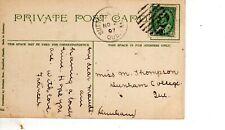November 2 1907 Sutton Junction Quebec post card View of Niagara Falls