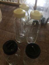 Lot of 12 Vintage Glass Baby Bottles (7 Davol, 5 Pyrex)