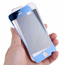 PACK OF 2 Premium Tempered Glass 9H Screen Protector for iPhone 5 5s SE - Blue