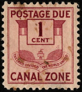 Canal Zone - 1932 - 1 Cent Claret Canal Zone Seal Postage Due # J25 Mint