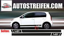 VW Up! Seitenstreifen Seitenaufkleber Aufkleber Komplett Set 3 und 5 Türer