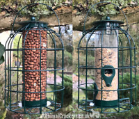 Wild Bird Squirrel Proof metal SEED & NUT feeders DISCOUNT WHEN BUY 1 OF EACH