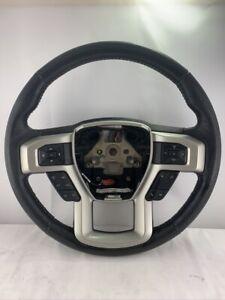2015-2020 Ford F-150 Steering Wheel Black Leather Cruise OEM