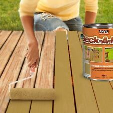 Deck Stain Resurfacer Wood Texture Paint Concrete Protective Coating Cedar 5-Gal