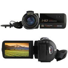 Ordro HDV-Z20 1080P Microphone Video Camera Touch Screen 16x Digital Zoom 8MP