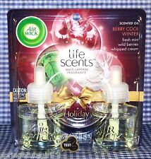 2 Refills Air Wick Life Scents BERRY COOL WINTER Mint Cream Scented Oil (1 Pack)