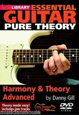 LICK LIBRARY ESSENTIAL GUITAR HARMONY & THEORY ADVANCED Learn to Play Lesson DVD