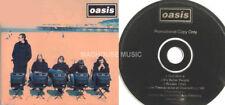 OASIS CD ROLL WITH IT 4 TRK UK PROMO BLACK DISC STICKER