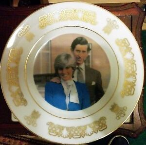Lady Diana (Late) and Prince Charles wedding plate