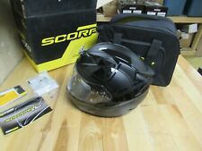 MOTORCYCLE HELMET SCORPION T1200 STREET / RACE FULLFACE W/ CASE - MATT BLACK XS