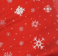Snow Angel red white snowflake Alexander Henry  fabric