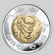 2015 Canada Canadian $2 Coin Sir John A. MacDonald 1815 Twoonie