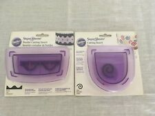 Wilton Sugar Sheets Cutting Inserts Lot of two Swirl And Waves Border