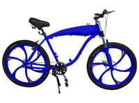 BBR Tuning Complete 26 Inch 2-Stroke Motor-Ready Bicycle w/ 2.4L In-Frame Gas Ta
