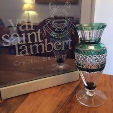 """Vase du Val Saint Lambert - doublé vert émeraude - modèle """"MEDICI"""" - signé"""