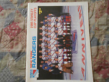 1985 NEW YORK RANGERS vs PHILADELPHIA FLYERS PROGRAM in STANLEY CUP PLAYOFFS AD