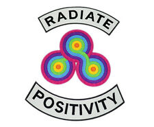 Radiate Positivity Embroidered patches, Radiate Positiviti iron on patches