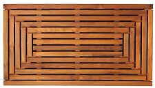 """Bare Decor Giza Shower, Spa, Door Mat in Solid Teak Wood and Oiled Finish 35.5"""""""