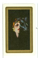 "Single Playing Card Antique Rolf Armstrong Art, ""Kissproof Girl"" Listed"" AR-5-3C"