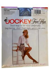 3 Pairs JOCKEY SHEER & COMFORTABLE THIGH HIGHS S-M, M-T Orchid, Peach, Spearmint