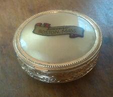 Vintage Boston, Massachusetts Gold Compact Make-Up Case w/ Mirror SOUVENIR