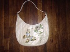 VINTAGE LILY BET  FILBERT Painted Floral FLOWERS BAG Purse 1950S-1960S