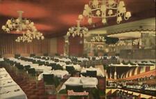 New York City East 86th St. Wienecke Restaurant Interior Linen Postcard