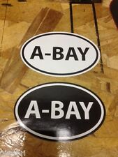 A-BAY A-BASIN Ski Snowboard sticker decals Black and White - 2 for 1