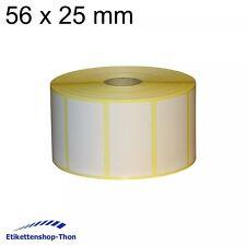 Thermotransfer - Haftetiketten auf Rolle - 56 x 25 mm - 2500 Stück - Hülse 25 mm